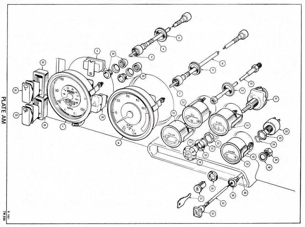 revington tr - tr250 plate am