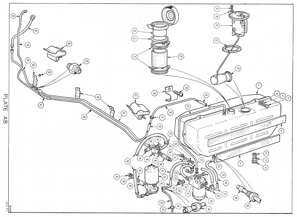 petrol injection pipe routing - tr6 forum