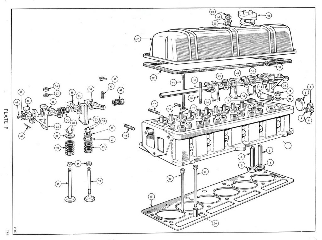 tr6 engine head diagram  engine  auto parts catalog and diagram
