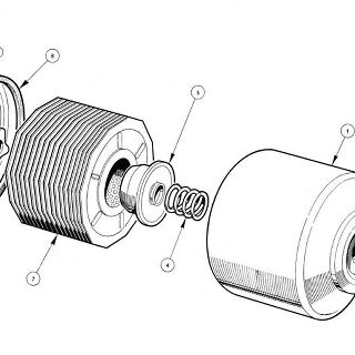 ENGINE (Petrol Injection Model): Oil Filter Oil Filter Assembly (Full Flow)