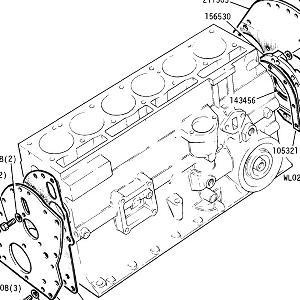 ENGINE (CARBURETTOR MODELS) Plates, Rear Oil Seal