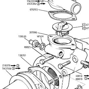 ENGINE (CARBURETTOR MODELS) Water Pump, Thermostat, Temperature Transmitter