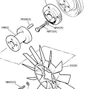 ENGINE (CARBURETTOR MODELS) Fan