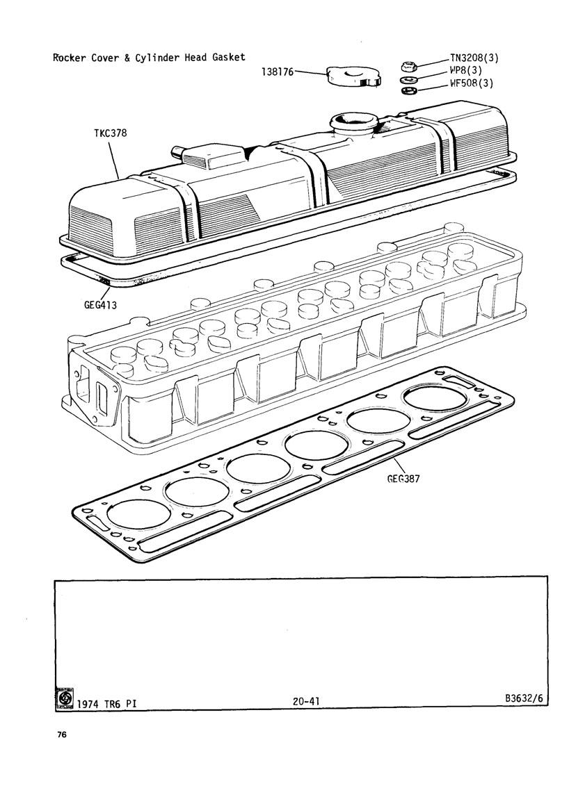 tr6 engine head diagram  engine  auto parts catalog and