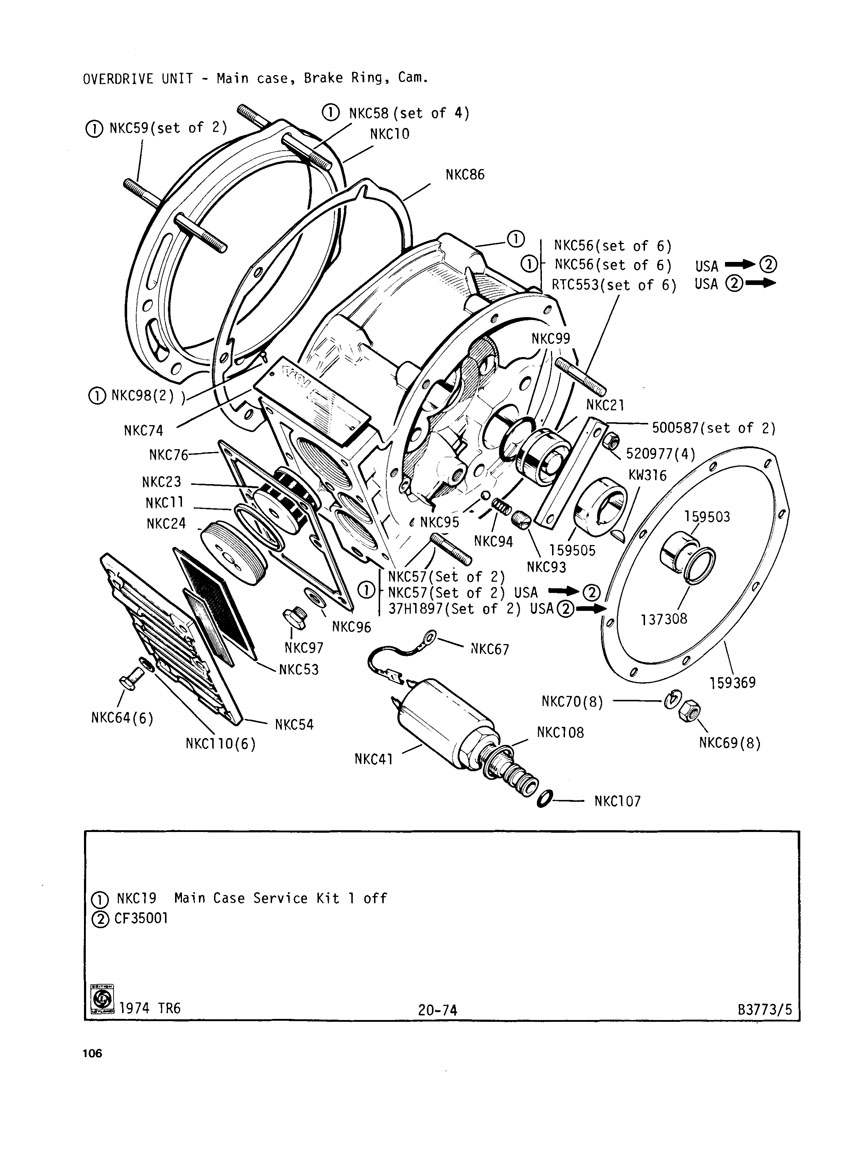 revington tr - tr6cr plate 20-74