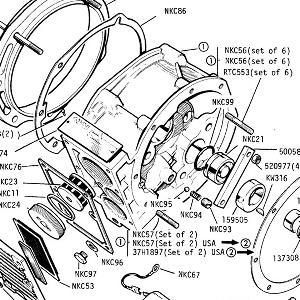 OVERDRIVE UNIT Main case, Brake Ring, Cam, solenoid