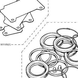 BRAKES Caliper repair kit & anti squeel shims