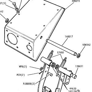 CLUTCH AND BRAKE PEDALS and Pedal Box