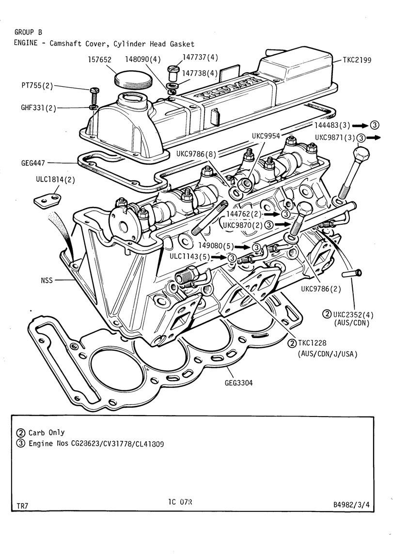 revington tr - tr7 plate 1c-07r - engine