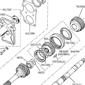 5 SPEED GEARBOX - Front Cover, Mainshaft, Constant Pinion Shaft (Gearbox No. CL.22477C onwards)