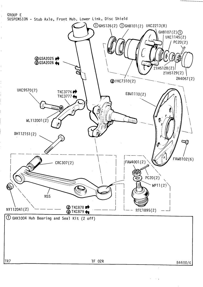 revington tr - tr7 plate 1f-02r - suspension