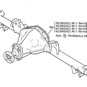 REAR AXLE - Axle Unit (All Manual Gearbox Vehicles) Also Automatic Gearbox Vehicles from VIN402027