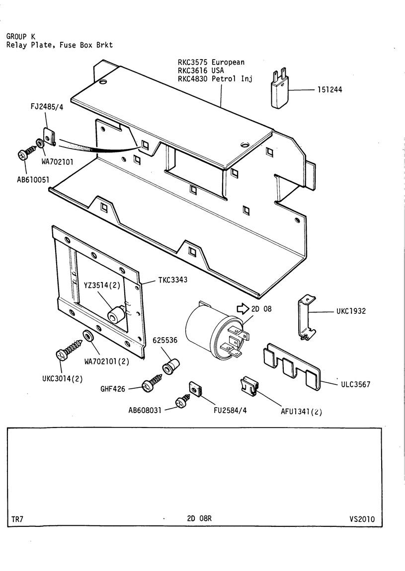 revington tr - tr7 plate 2d-08r - electrical