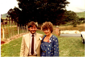 Sue and I, in NZ 1979