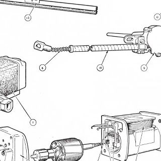 ELECTRICAL EQUIPMENT: WINDSCREEN WIPER ASSEMBLY. Windscreen washers are in accessories, plate AV No.275 on