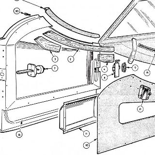 BODY AND FITTINGS: DOORS, HINGES AND LOCKS, CASINGS AND SIDE CURTAINS.