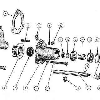 ENGINE: WATER PUMP ASSEMBLY AND DYNAMO MOUNTING (Not illustrated).