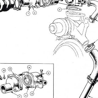 ENGINE: WATER THERMOSTAT, WATER HOSES AND IGNITION (Not illustrated).