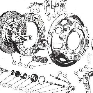CLUTCH: COVER, PLATE, RELEASE MECHANISM AND SLAVE CYLINDER.
