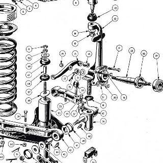 106641 TRIUMPH TR2,TR3,TR3A,TR4,TR4A,TR5,TR6 FRONT CALIPER PLATE LOCK TABS x 4
