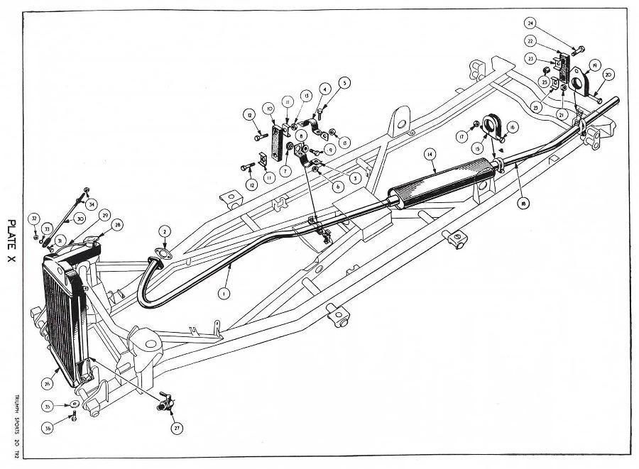 revington tr - tr3 plate x