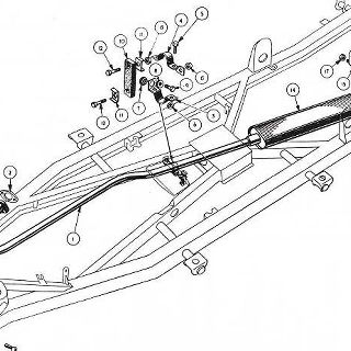 EXHAUST SYSTEM, RADIATOR AND MISCELLANEOUS CHASSIS DETAILS.