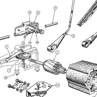 ELECTRICAL EQUIPMENT: WINDSCREEN WIPER ASSEMBLY.