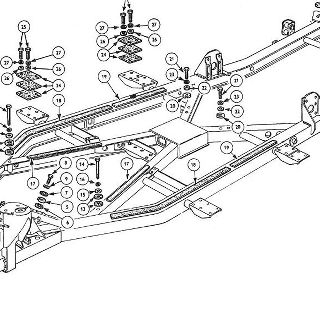 BODY AND FITTINGS: BODY COMPLETE AND BODY MOUNTINGS.