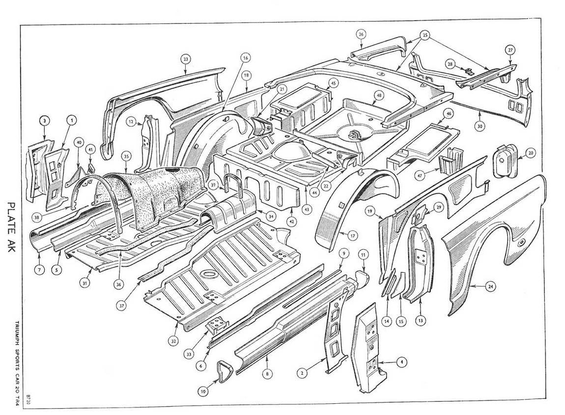 revington tr - tr4 plate ak