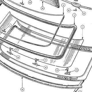 BODY AND FITTINGS: WINDSCREEN ASSEMBLY, MIRROR AND SUN VISORS.