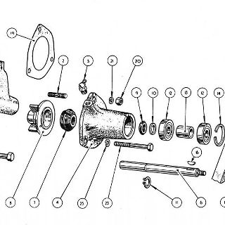 ENGINE: WATER PUMP ASSEMBLY.