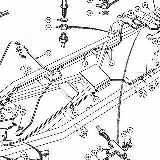 Revington TR - TR4 Plate Y - HYDRAULIC PIPES, PETROL PIPES