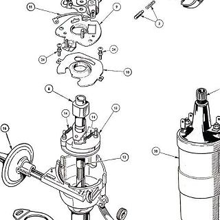 ELECTRICAL EQUIPMENT: DISTRIBUTOR AND IGNITION COIL.