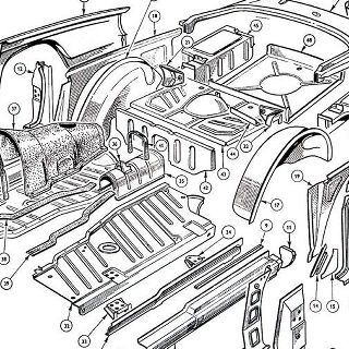 BODY AND FITTINGS: FLOORS REAR WINGS INNER AND OUTER AND REAR BODY PANELS.