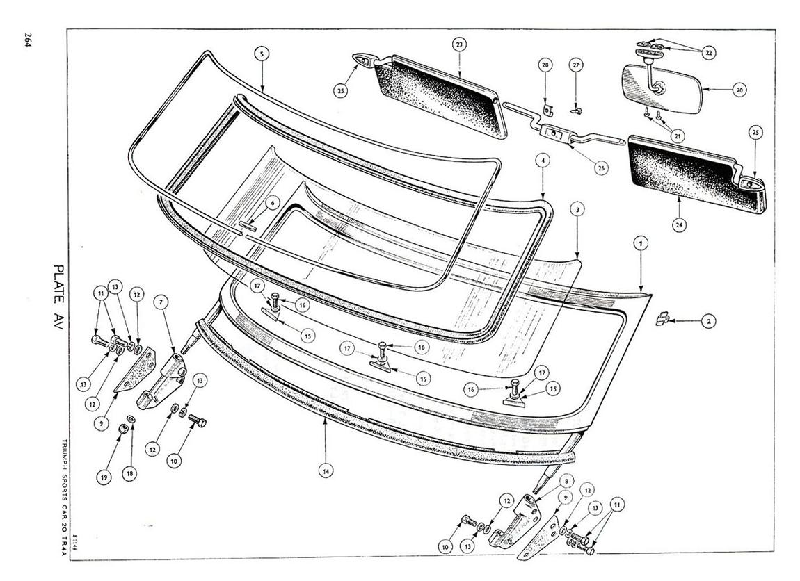 Revington TR - TR4A Plate AV - BODY AND FITTINGS  WINDSCREEN ... 6cec984f355