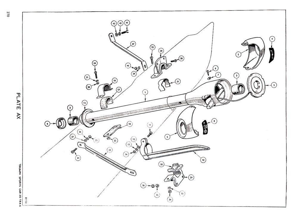 revington tr - tr4a plate ax