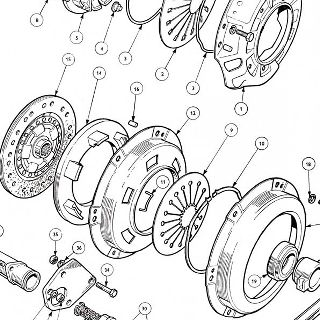 CLUTCH: COVER, PLATE, RELEASE MECHANISM AND SLAVE CYLINDER