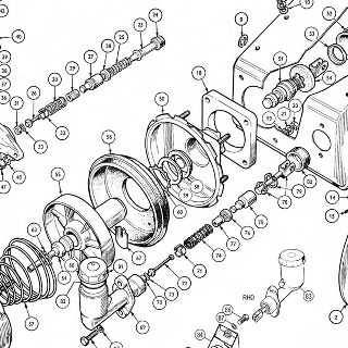 CLUTCH AND BRAKE PEDALS: MASTER CYLINDERS, SUPPORT BRACKET AND SERVO UNIT