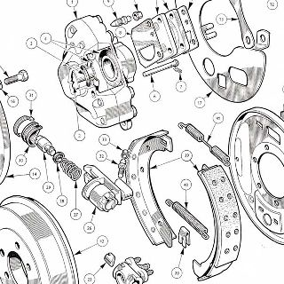 BRAKES: FRONT CALIPERS AND REAR DRUMS