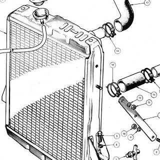 RADIATOR Radiator Block Assembly, Overflow Bottle