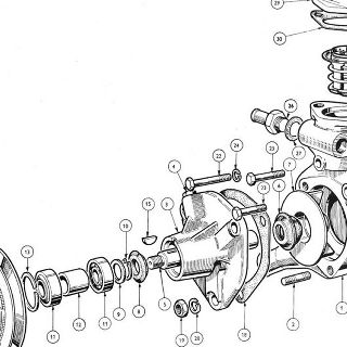 ENGINE (Carburettor Model): Water Pump & Thermostat Water Pump Details, Thermostat Unit, Temperature Transmitter