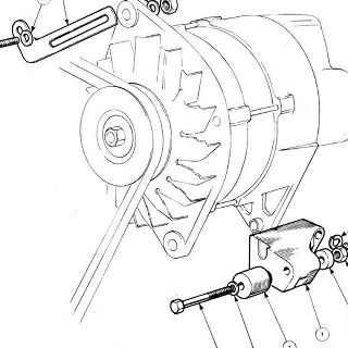 ENGINE (Carburettor Model): Alternator Mounting