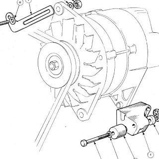 ENGINE (Petrol Injection Model): Alternator Mounting