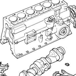 ENGINE (CARB MODELS) BLOCK Short Engine