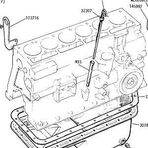 ENGINE (CARB MODELS) Sump, Dipstick, Lifting Eyes