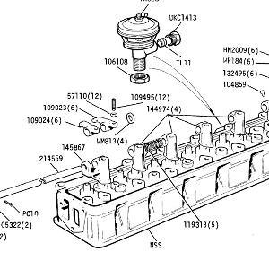 ENGINE (CARB MODELS) Cylinder Head Rocker Gear and E.G.R. Valve