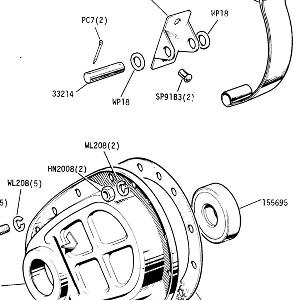 ENGINE (CARB MODELS) Timing Cover Details, Seal and Tensioner