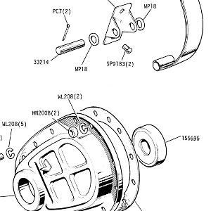 ENGINE (P.I. MODELS) Timing Cover, front oil seal and chain tensioner