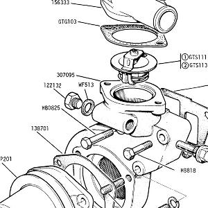 ENGINE (P.I. MODELS) Water Pump, Thermostat, Temperature Transmitter