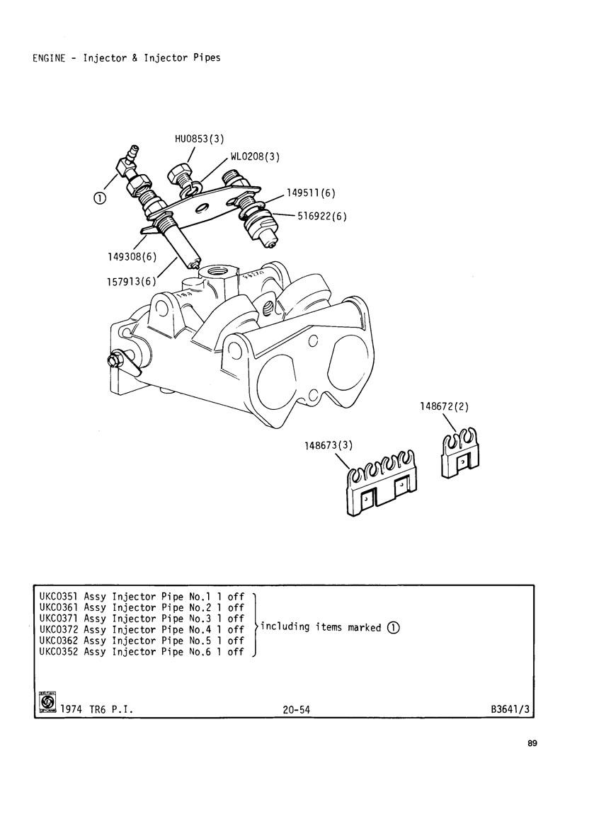 Revington Tr Tr6cr Plate 20 54 Engine Pi Models For Tr6 Cr